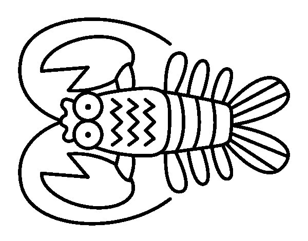 Crustacean coloring #8, Download drawings