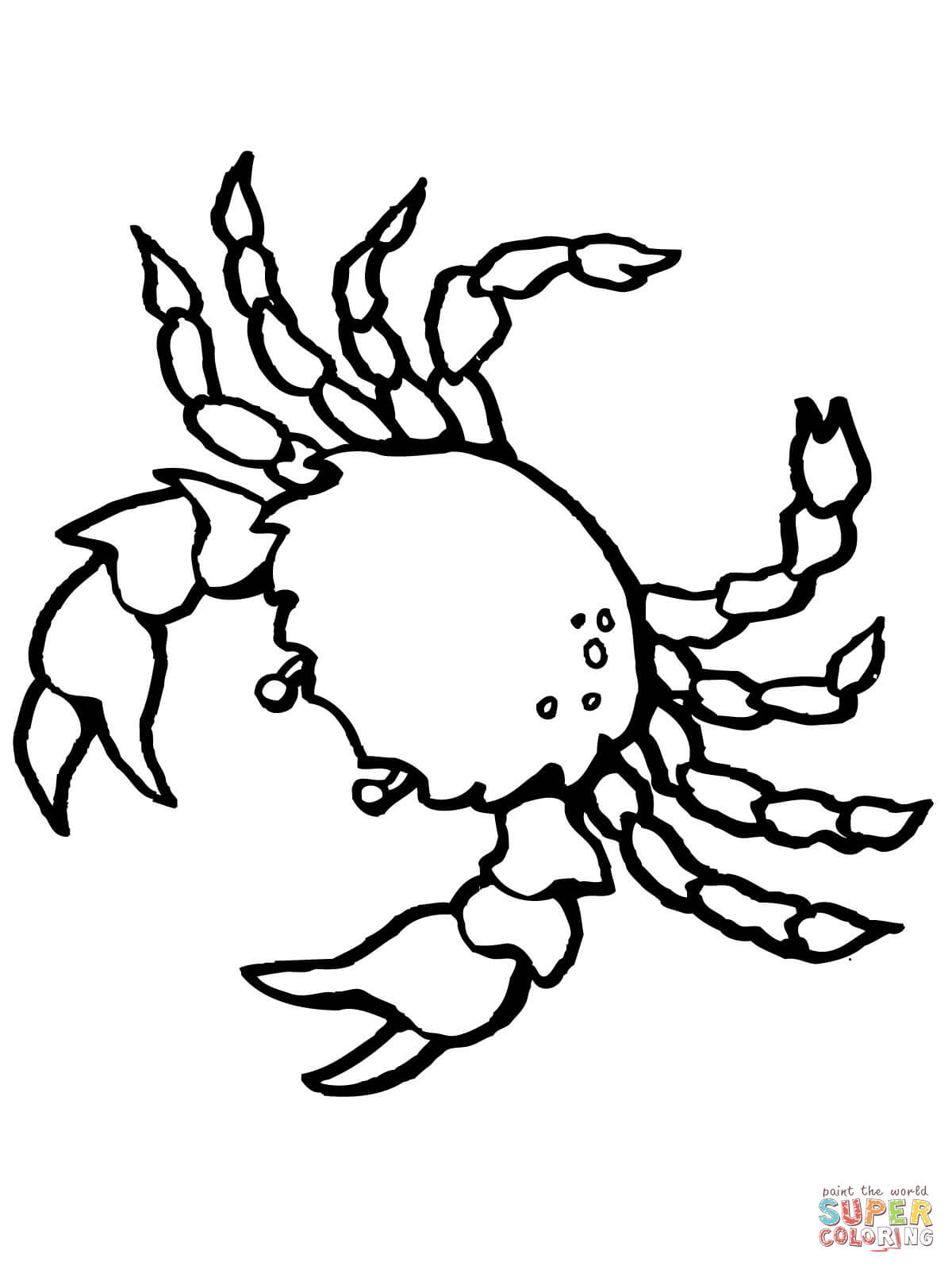 Crustacean coloring #4, Download drawings
