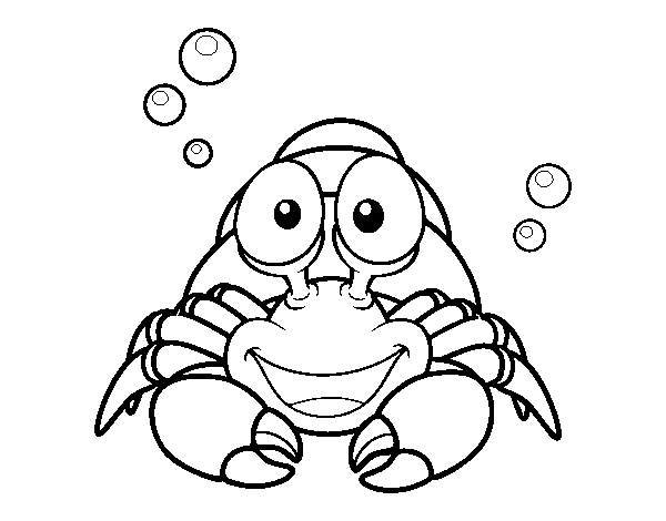 Crustacean coloring #5, Download drawings