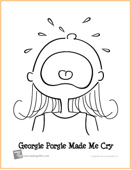 Crying coloring #10, Download drawings