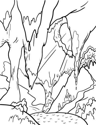 Crystal Cave coloring #14, Download drawings