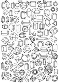 Crystals coloring #15, Download drawings