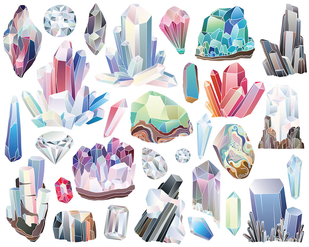 Crystals clipart #5, Download drawings