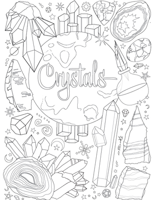 Crystals coloring #4, Download drawings