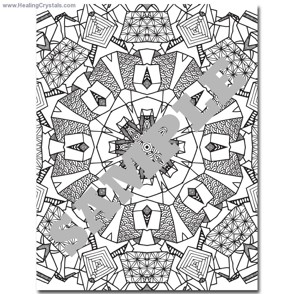 Crystals coloring #9, Download drawings