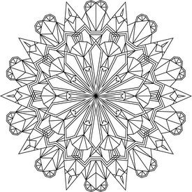 Crystals coloring #7, Download drawings