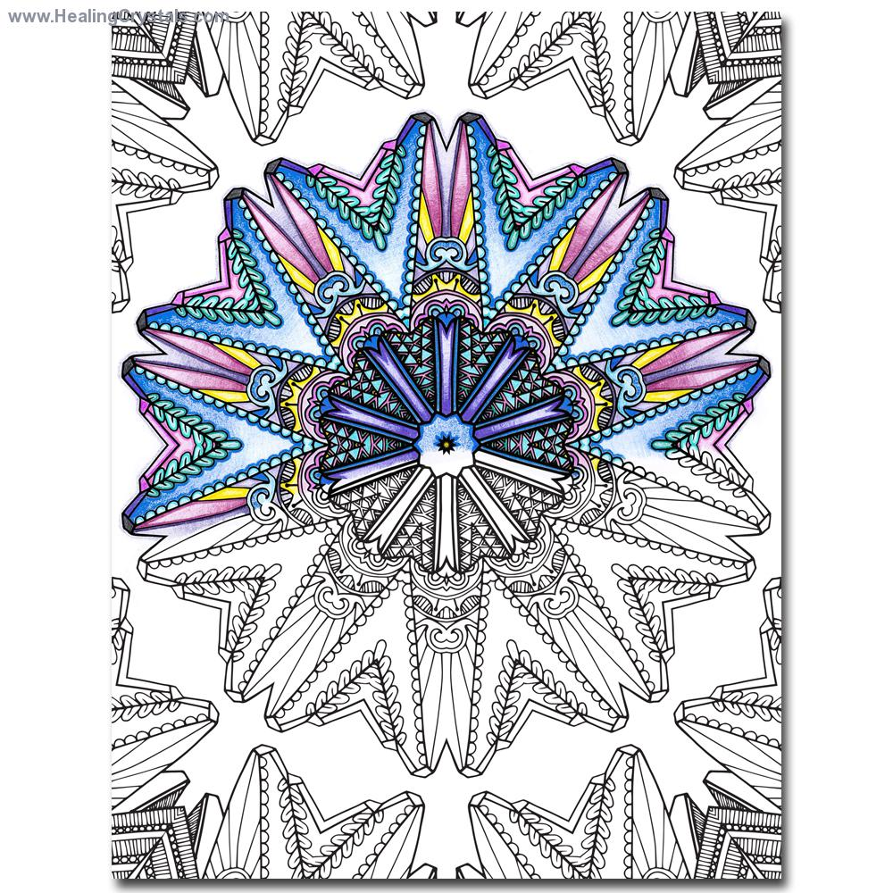 Crystals coloring #6, Download drawings