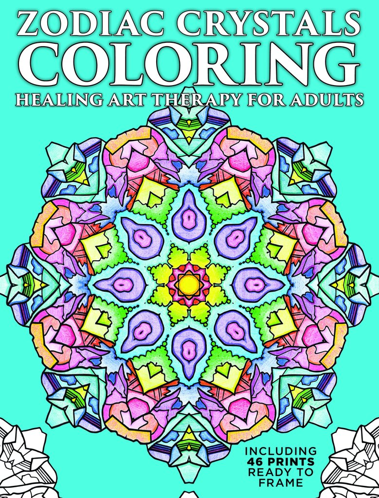 Crystals coloring #16, Download drawings