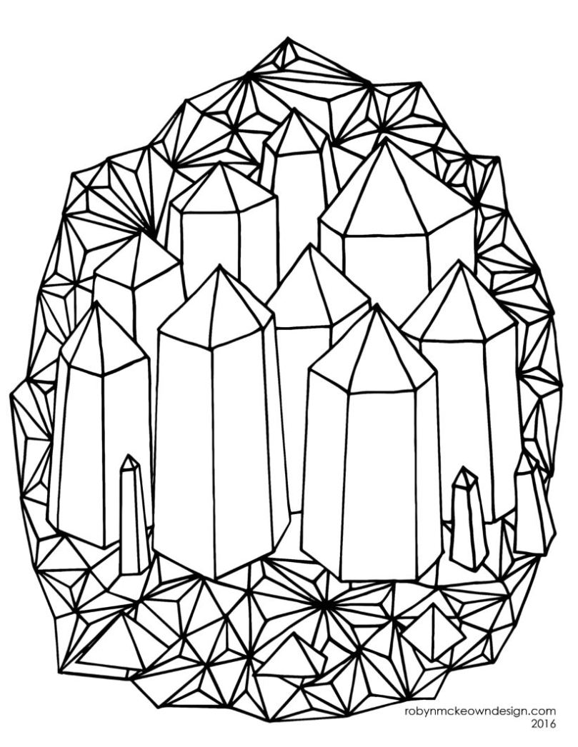 Crystals coloring #12, Download drawings