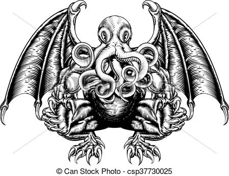 Cthulhu clipart #20, Download drawings