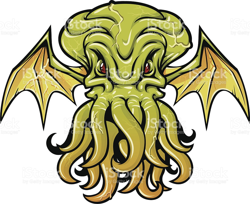 Cthulhu clipart #5, Download drawings