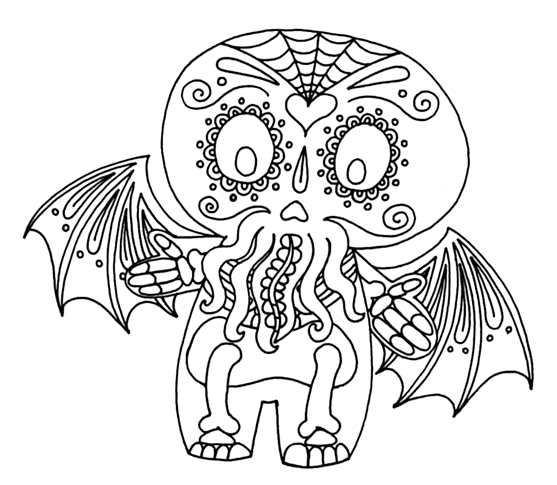 Cthulhu coloring #4, Download drawings