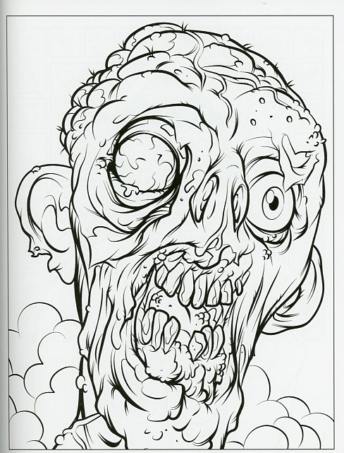 Cthulhu coloring #3, Download drawings