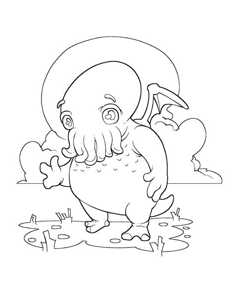 Cthulhu coloring #20, Download drawings