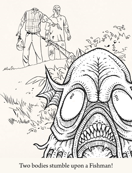 Cthulhu coloring #18, Download drawings