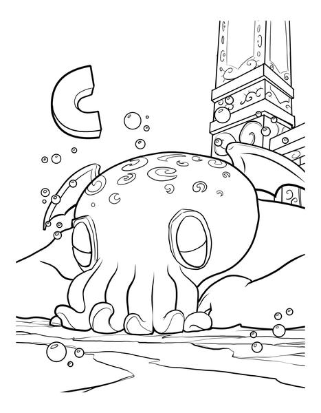 Cthulhu coloring #17, Download drawings