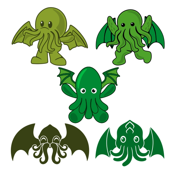 Cthulhu svg #15, Download drawings