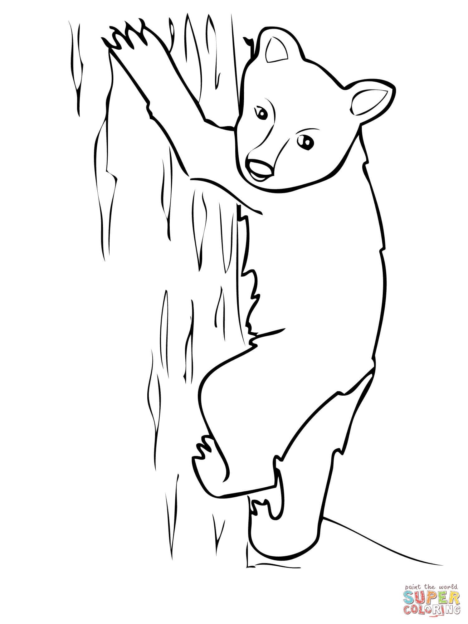 Bear Cub coloring #11, Download drawings