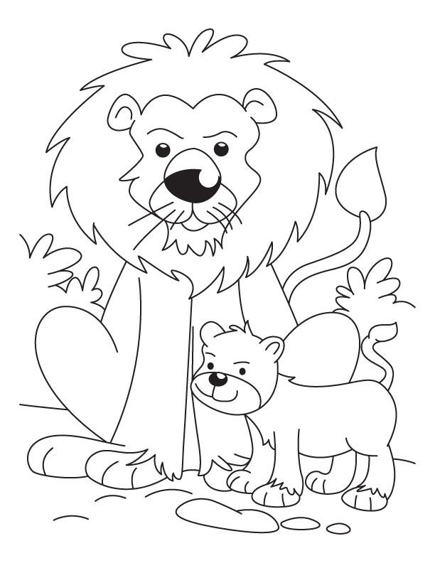 Cub coloring #9, Download drawings