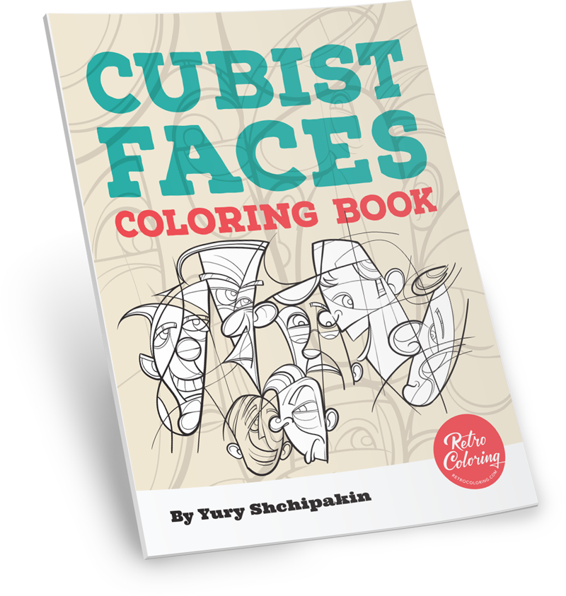 Cubism coloring #9, Download drawings