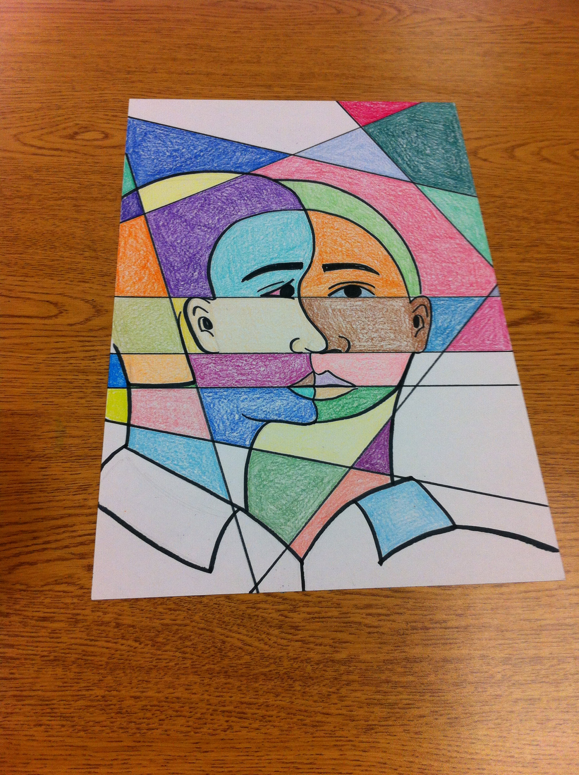 Cubism Coloring Download Cubism Coloring