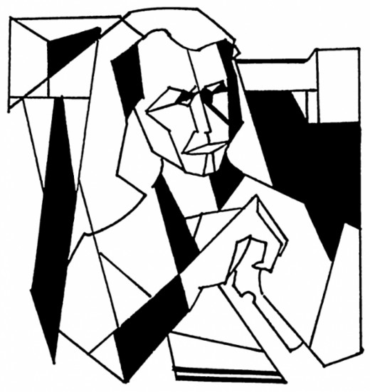 Cubism coloring #15, Download drawings