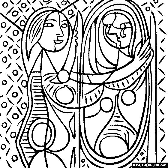Cubism coloring #16, Download drawings