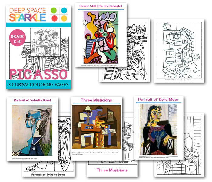 Cubism coloring #11, Download drawings