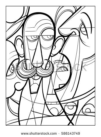 Cubism coloring #8, Download drawings