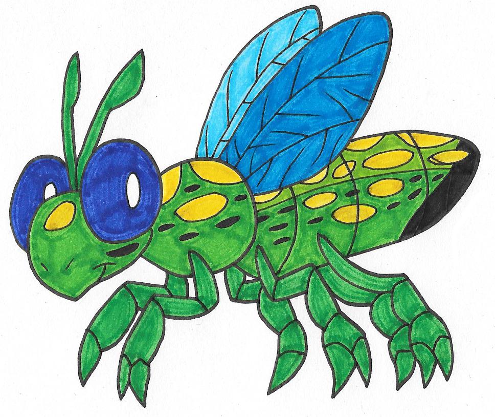 Cuckoo Wasp clipart #1, Download drawings