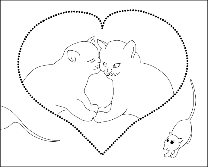 Cuddling coloring #4, Download drawings