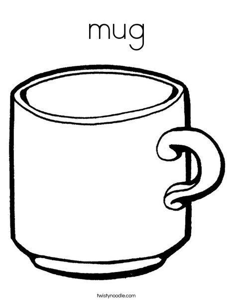 Cup coloring #20, Download drawings