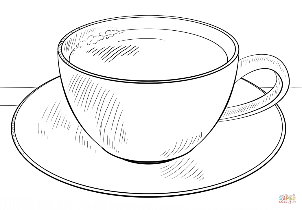 Coffee coloring #10, Download drawings
