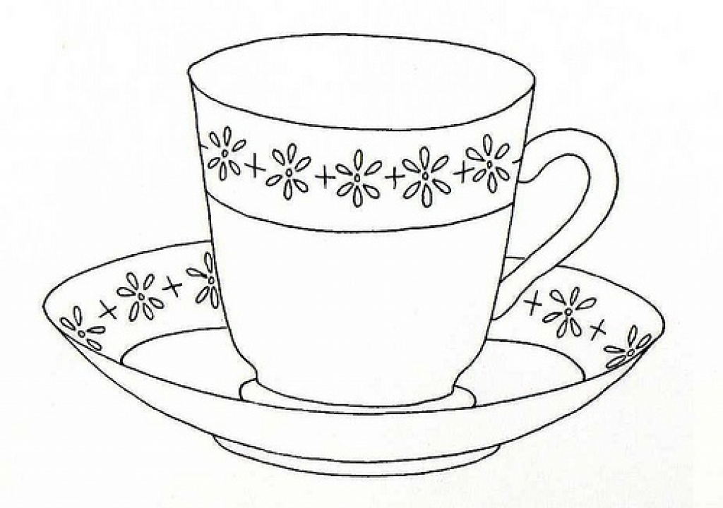 Cup coloring #13, Download drawings