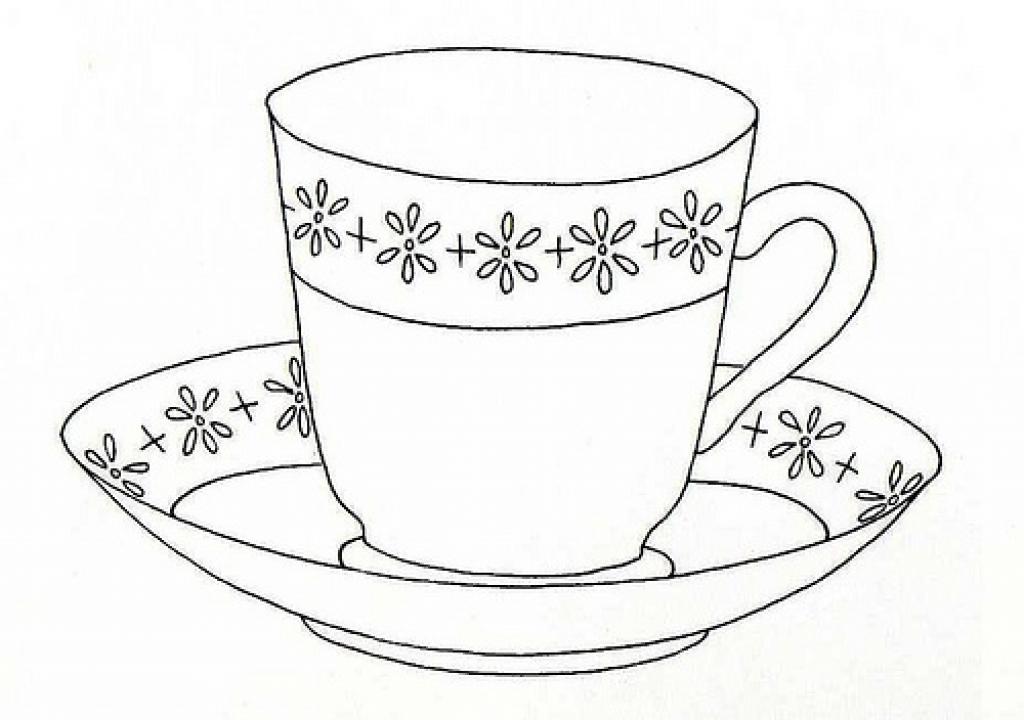 Tea Cup coloring #14, Download drawings