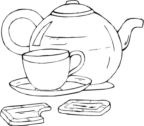Cup coloring #7, Download drawings