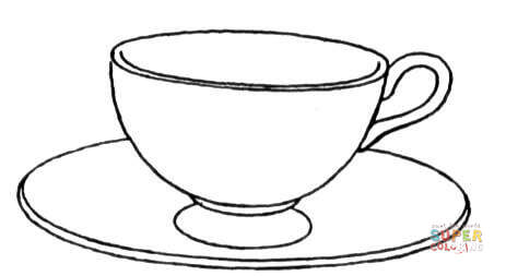 Cup coloring #17, Download drawings