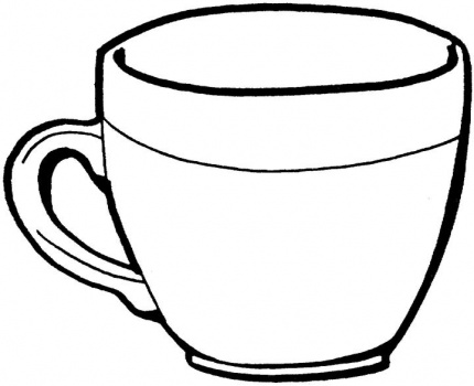 Cup coloring #18, Download drawings