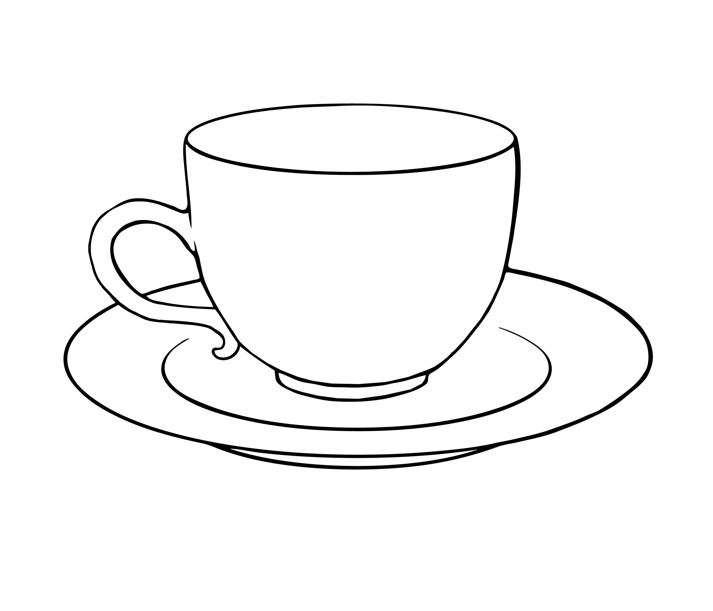 Tea Cup coloring #20, Download drawings