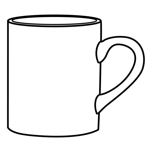 Cup coloring #11, Download drawings