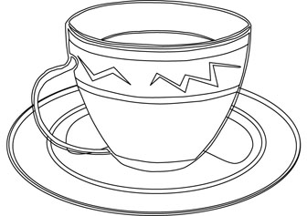 Cup coloring #16, Download drawings