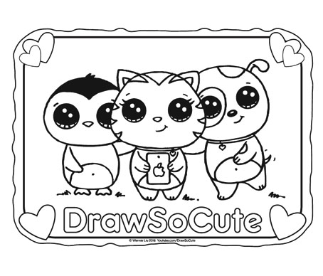 Cute coloring #3, Download drawings