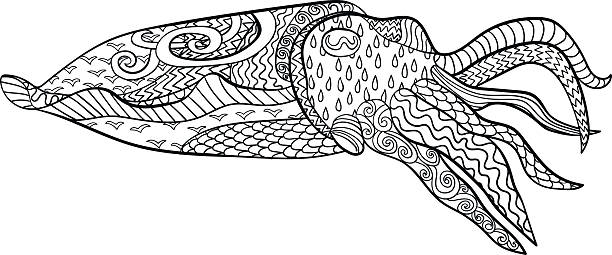 Cuttlefish coloring #11, Download drawings