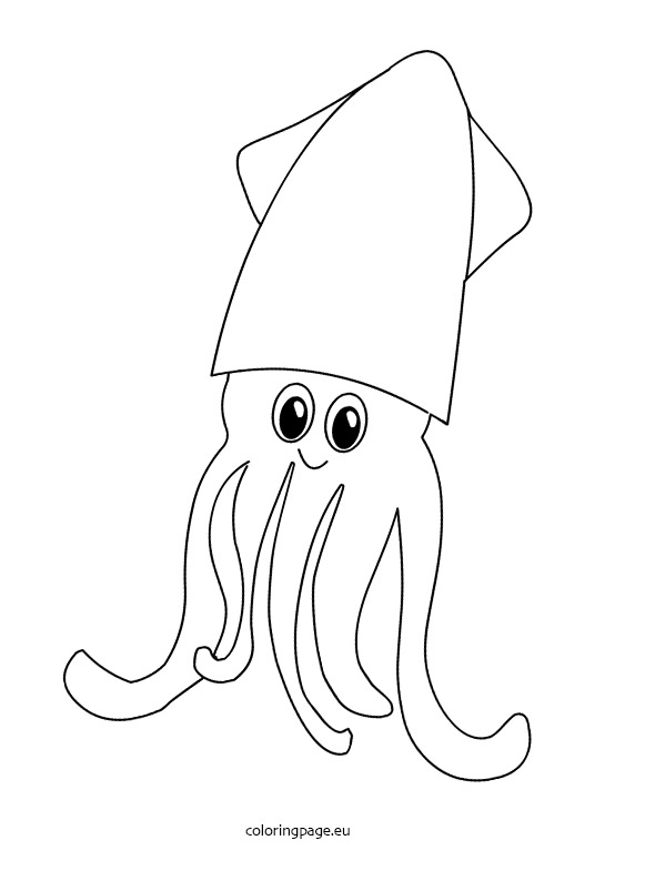 Cuttlefish coloring #18, Download drawings