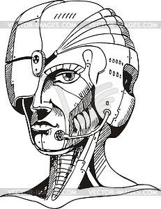 Cyborg clipart #4, Download drawings