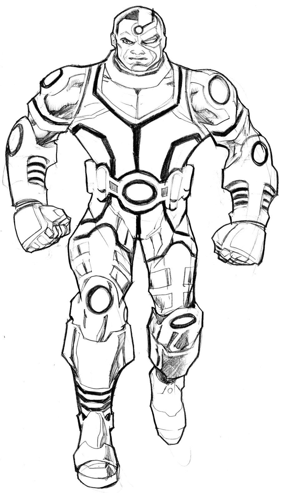 Cyborg coloring #18, Download drawings