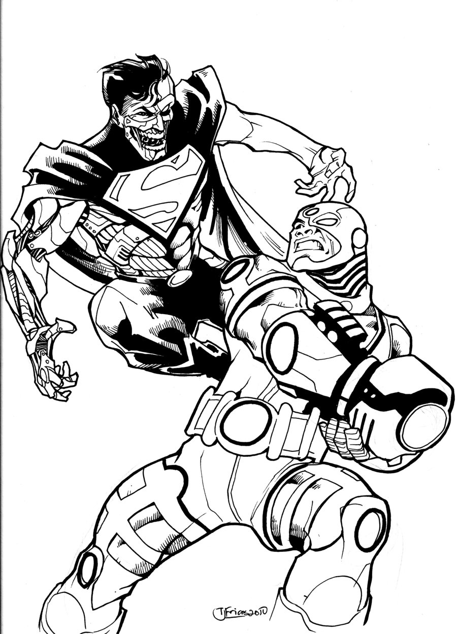 Cyborg coloring #3, Download drawings