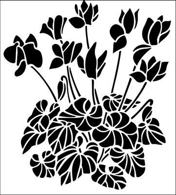 Cyclamen svg #14, Download drawings
