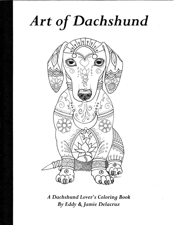 Dachshund coloring #10, Download drawings