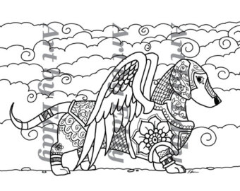 Dachshund coloring #5, Download drawings